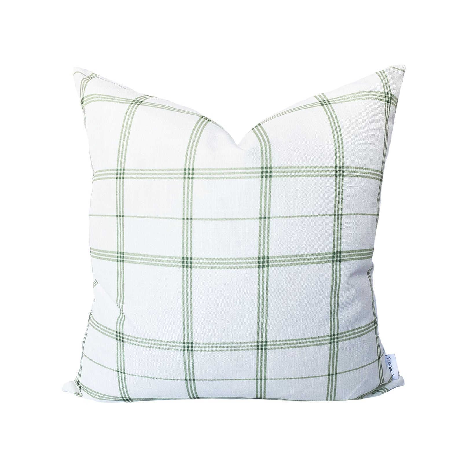 Linden Plaid Pillow in Sage
