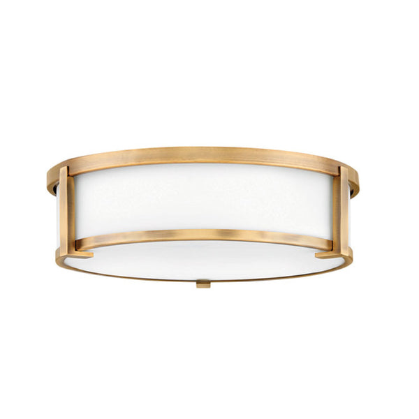 Lowry Flush Mount in Brushed Bronze - Large