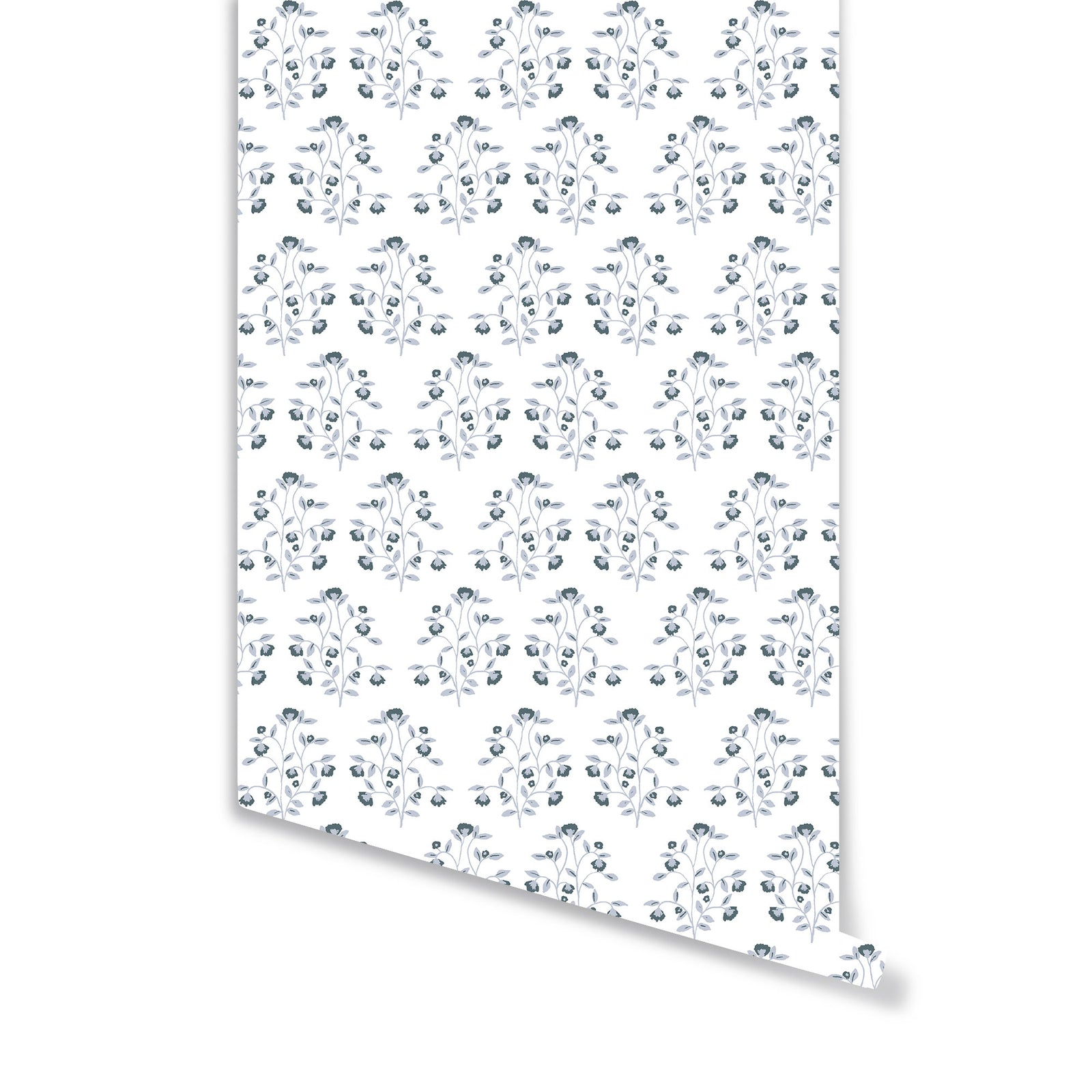 Lucille Floral Wallpaper in Navy