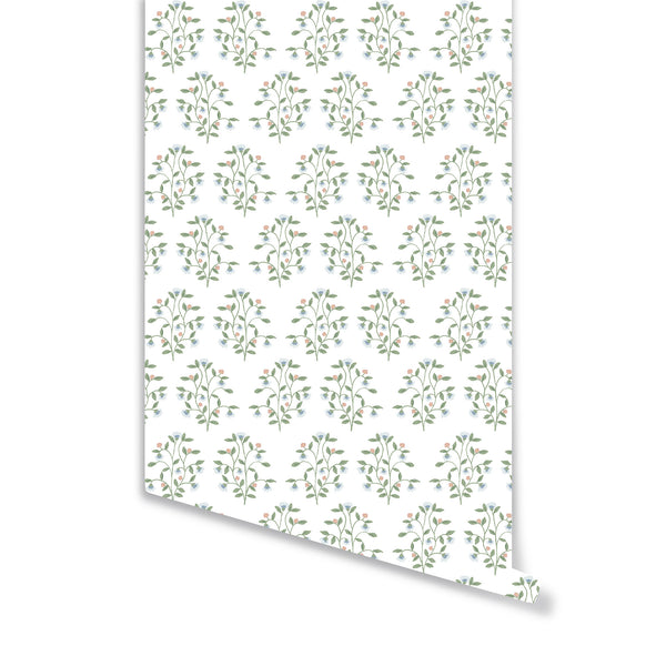 Lucille Floral Wallpaper in Multi