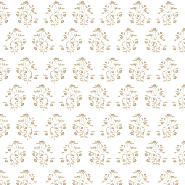 Lucille Floral Fabric in Natural