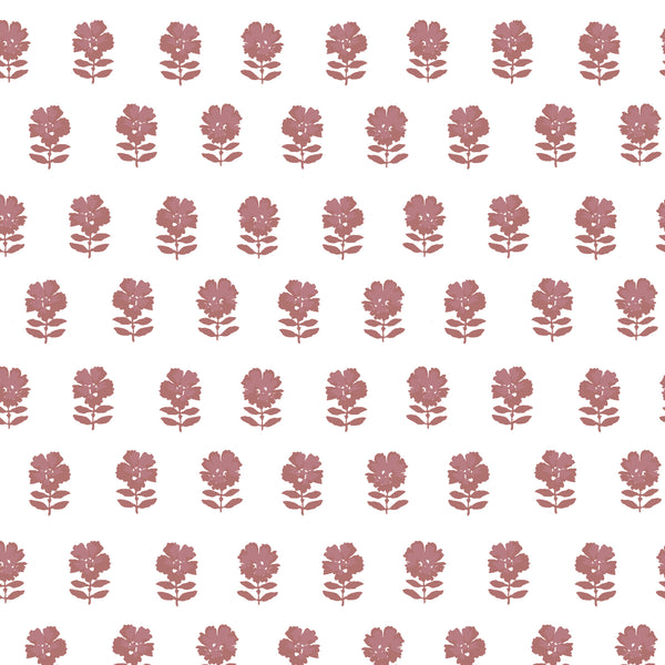 Lulu Floral Fabric in Rose