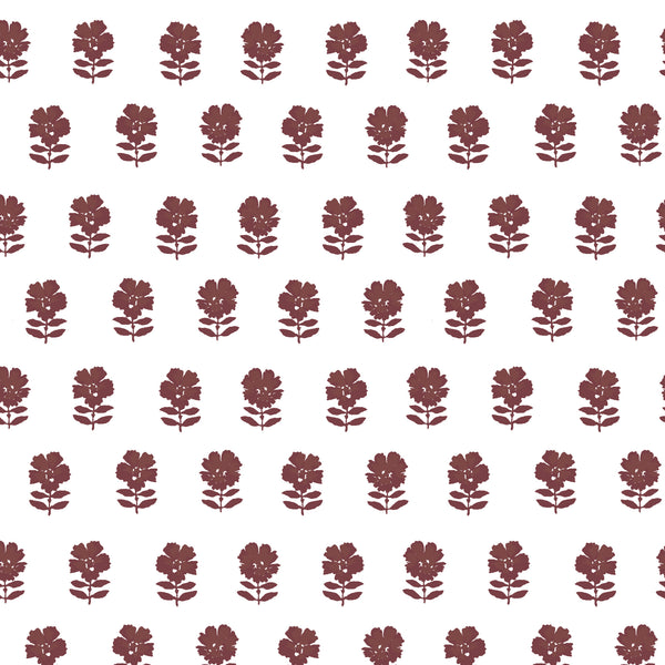 Lulu Floral Fabric in Ruby