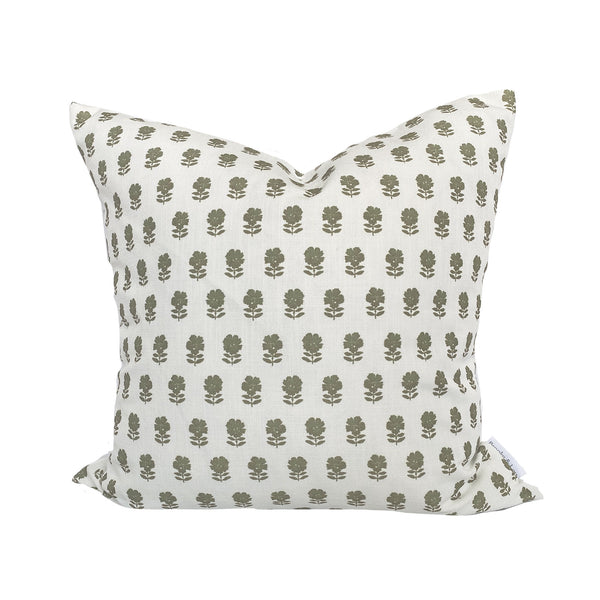 Lulu Floral Pillow in Olive