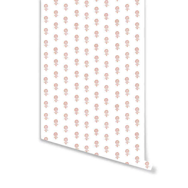 Lyla Wallpaper in Soft Coral
