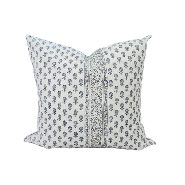 Lyla Stripe Pillow in Light Blue
