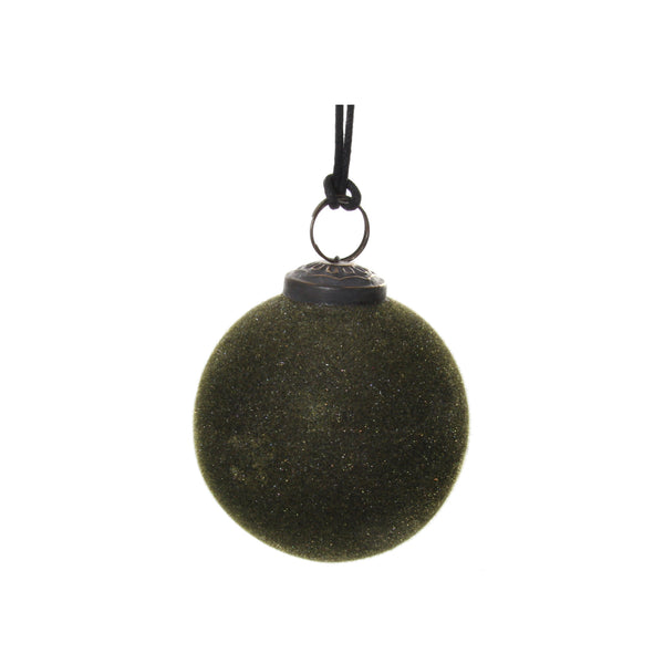 Medium Green Velvet Ornament