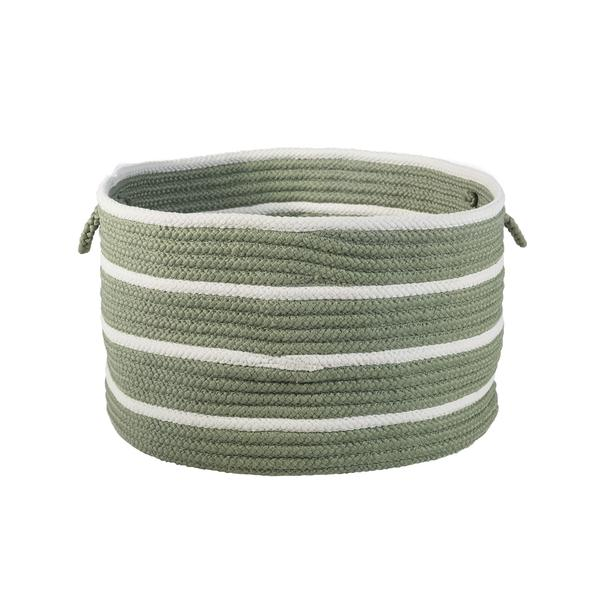 Sonny Stripe Basket in Moss Green