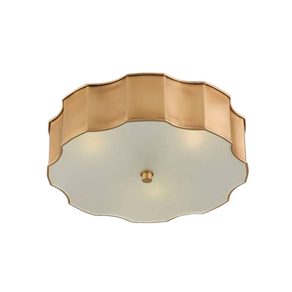 Nasseff Flush Mount in Brass