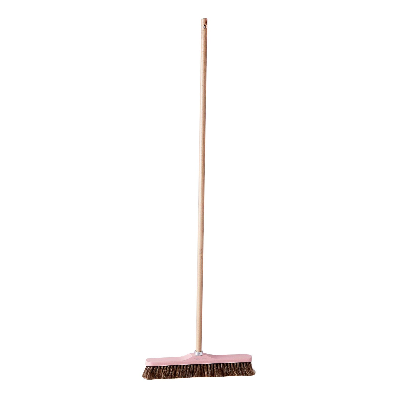 Light Pink Broom with Natural Handle