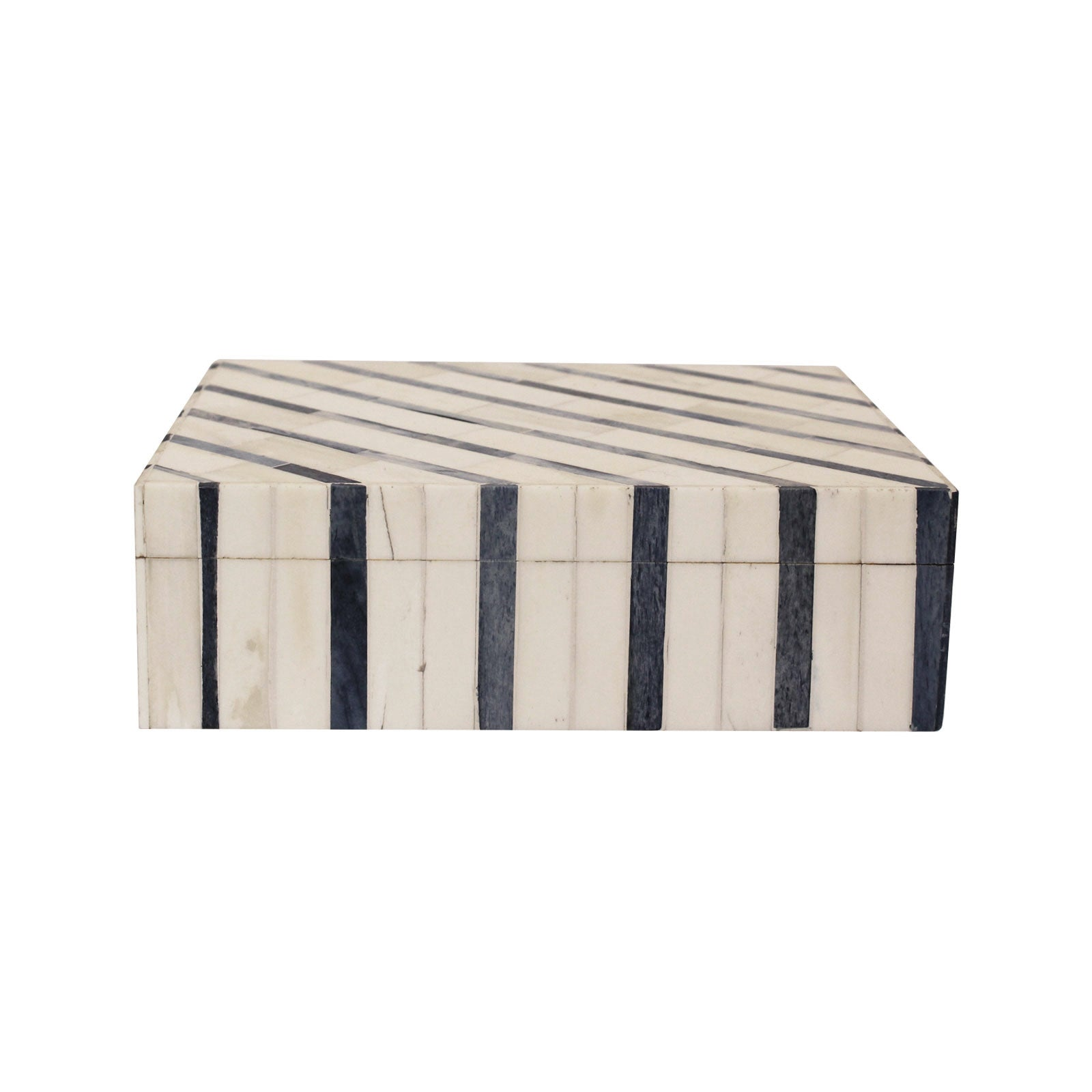 Large Navy Stripe Box
