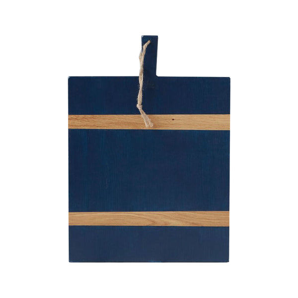 Navy and Natural Rectangle Cheese Board