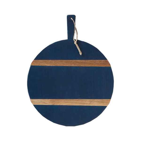 Navy and Natural Round Cheese Board