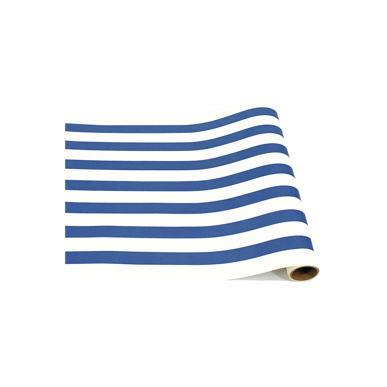 Navy Stripe Paper Table Runner