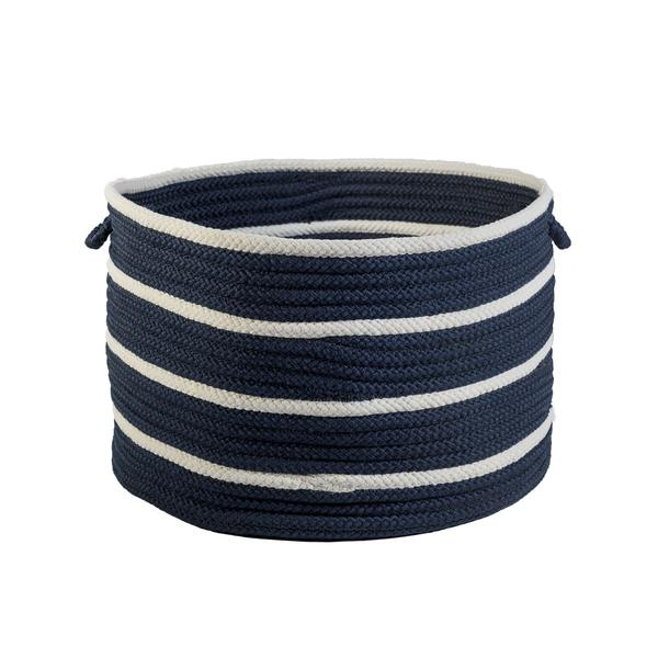 Sonny Stripe Basket in Navy Blue