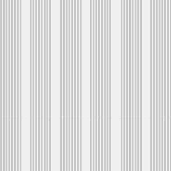 Oscar Stripe Fabric in Stone Grey