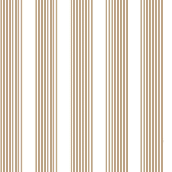 Oscar Stripe Fabric in Camel
