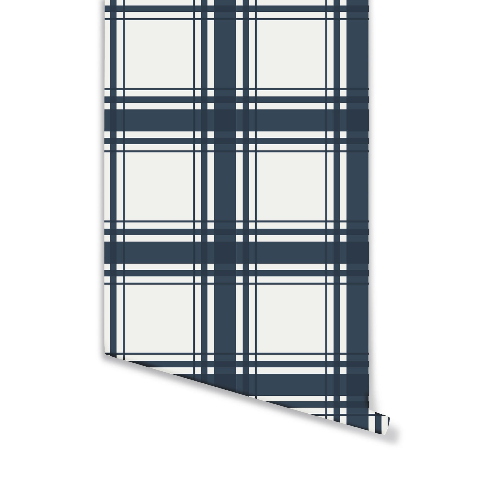 Oxford Plaid Wallpaper in Navy