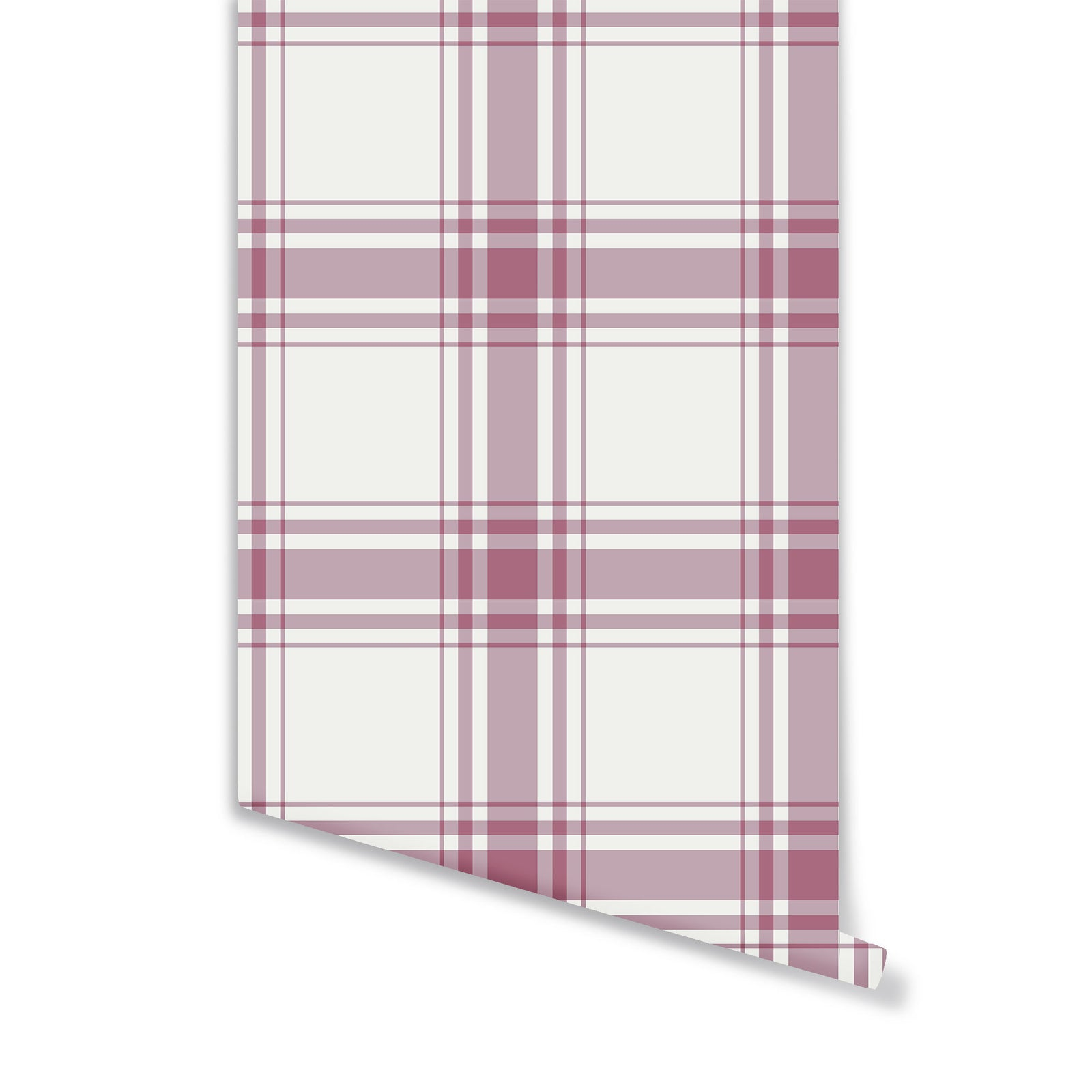 Oxford Plaid Wallpaper in Rose