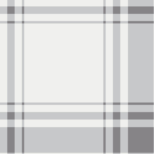 Oxford Plaid Fabric in Stone Grey