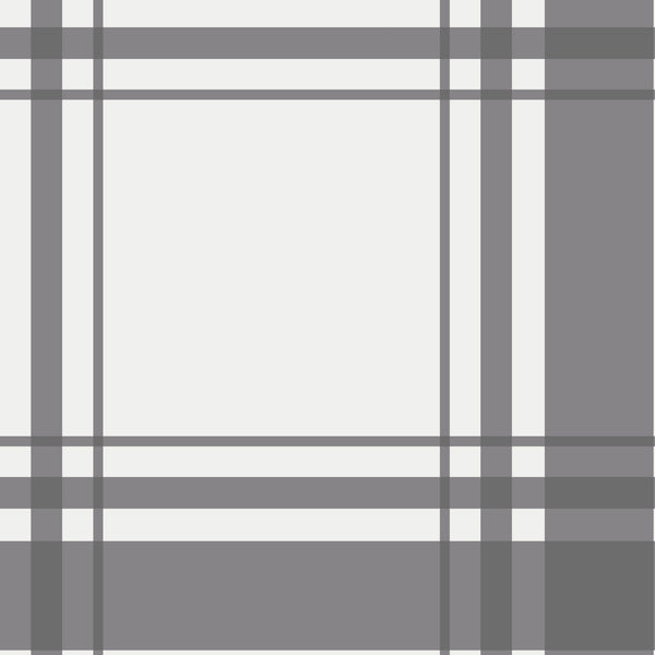 Oxford Plaid Fabric in Charcoal