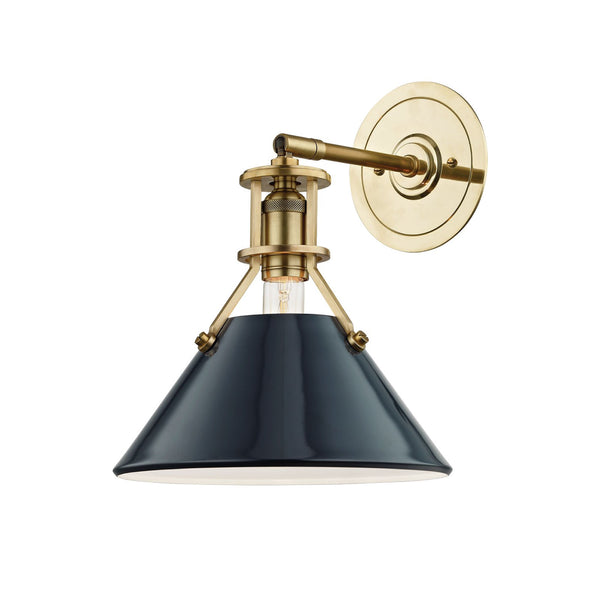 Charles Sconce in Deep Blue and Brass