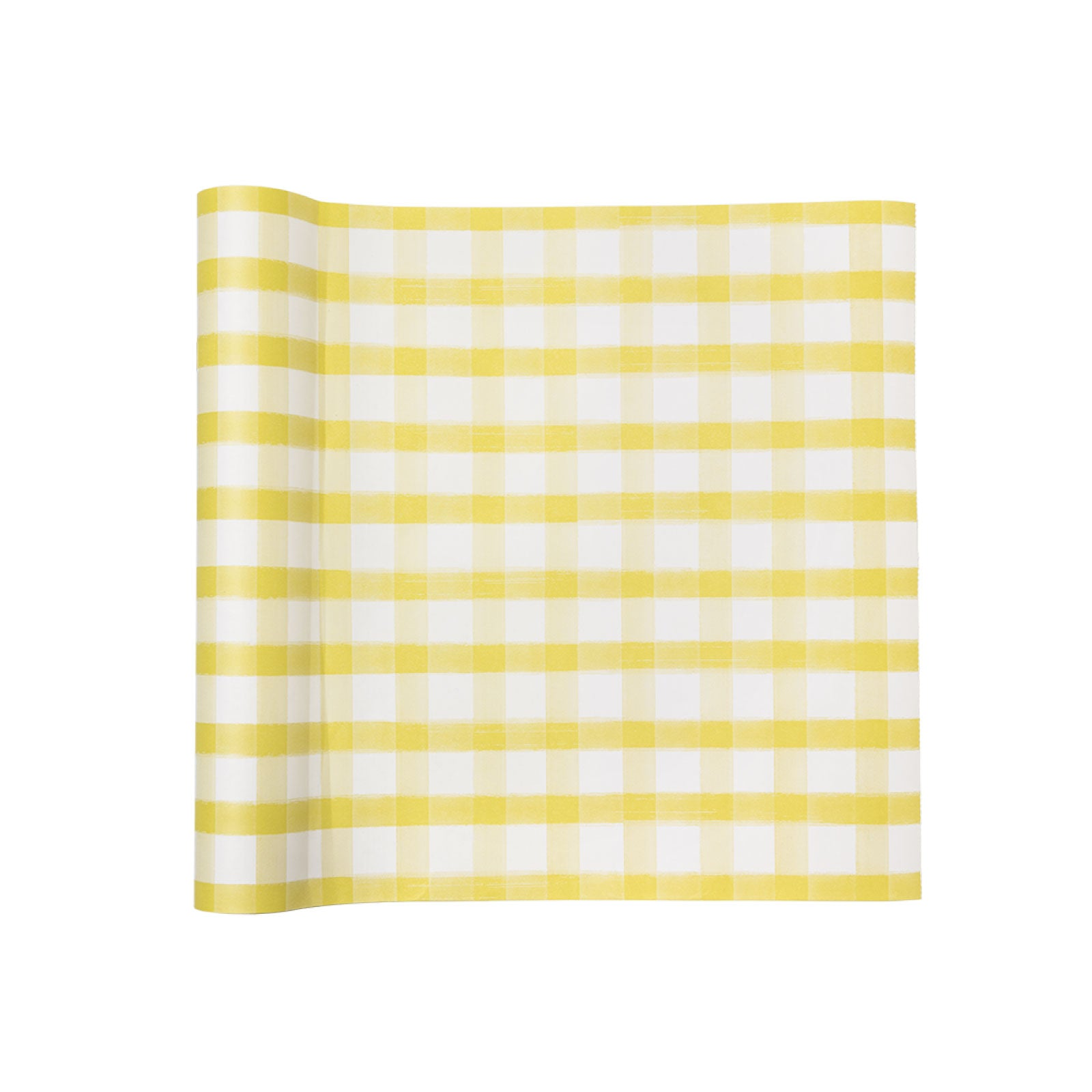 Lemon Lime Picnic Check Paper Table Runner