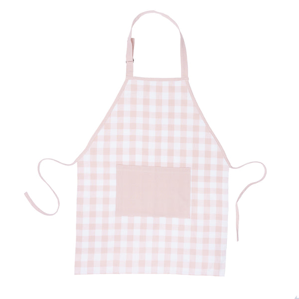 Pink Gingham Adult Apron