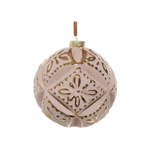Pink and Gold Geometric Ornament