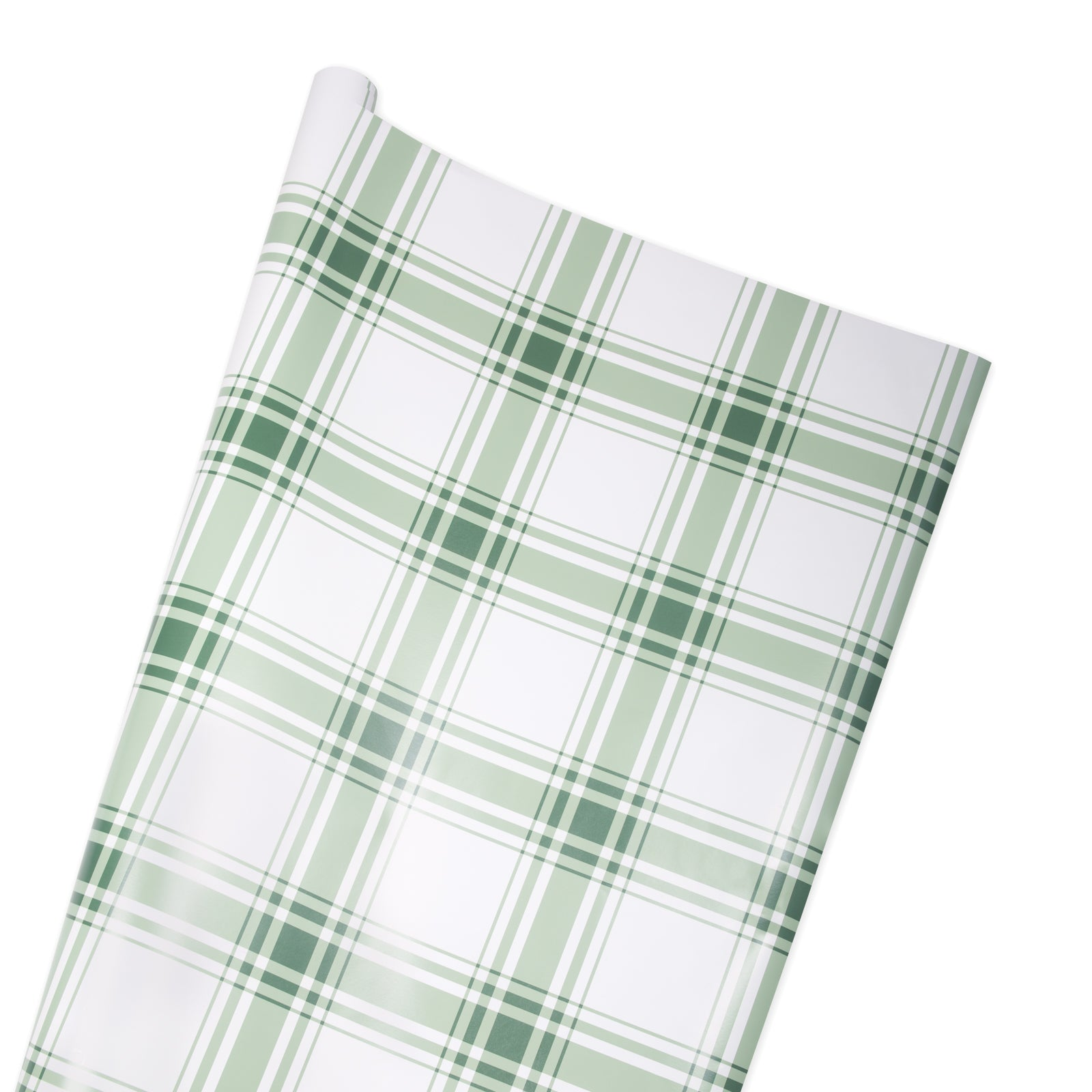 Oxford Plaid Wrapping Paper in Sage