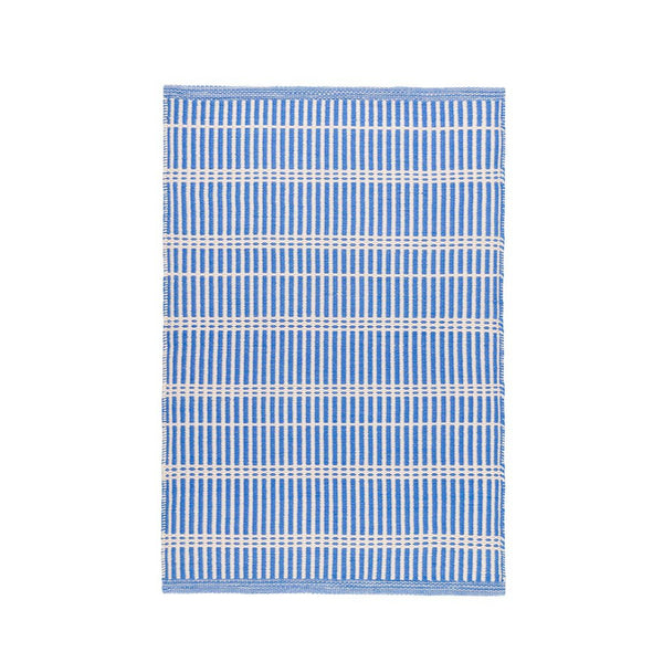 Ramon Stripe Indoor/Outdoor Rug in French Blue