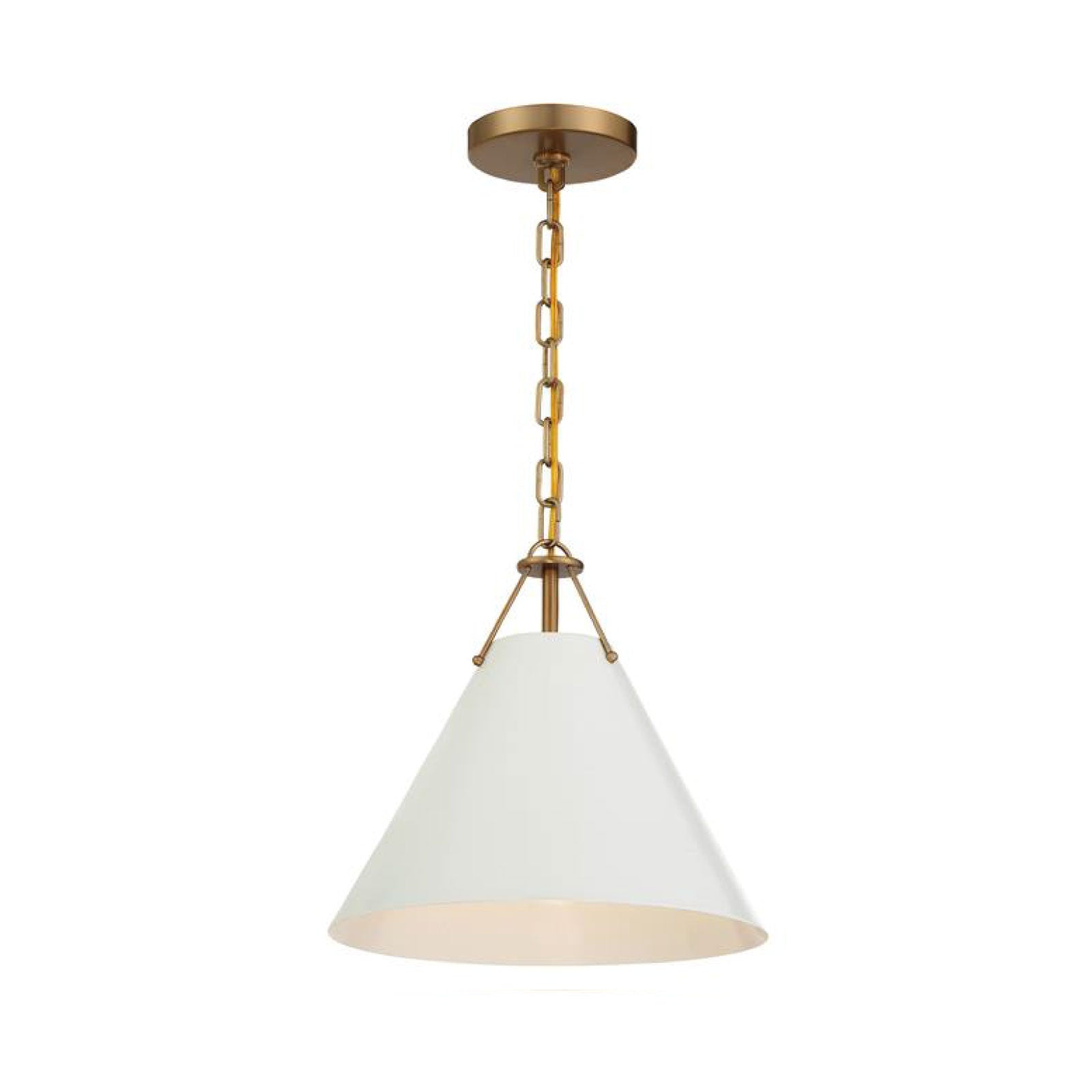 Randolph 1 Light Pendant in Vibrant Gold