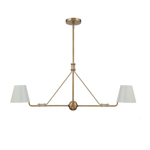 Randolph 2 Light Chandelier in Vibrant Gold