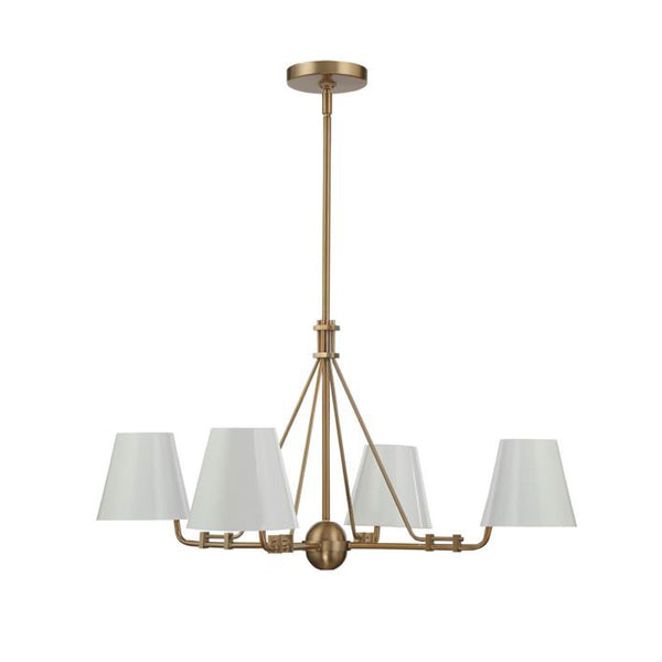 Randolph 4 Light Chandelier in Vibrant Gold
