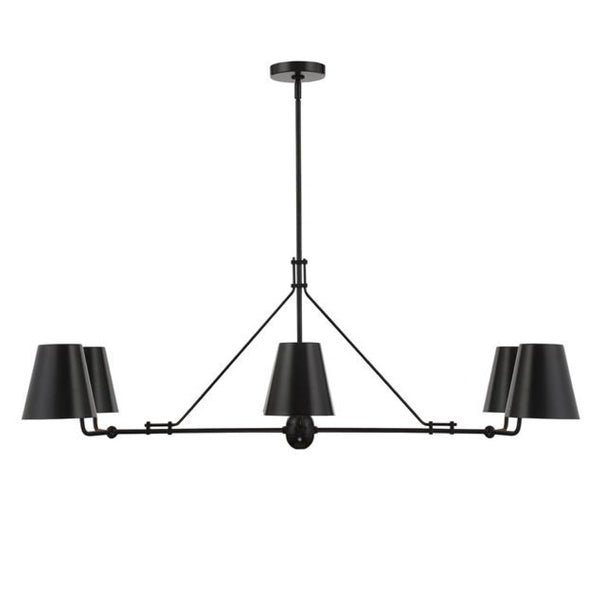 Randolph 6 Light Chandelier in Matte Black