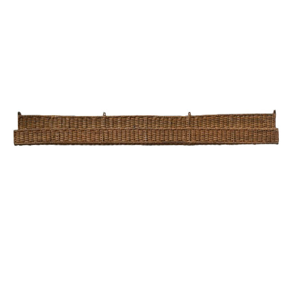 Large Rattan Wall Shelf