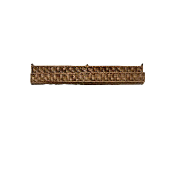 Small Rattan Wall Shelf