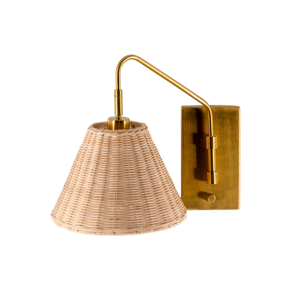 Rattan Wrapped  Sconce