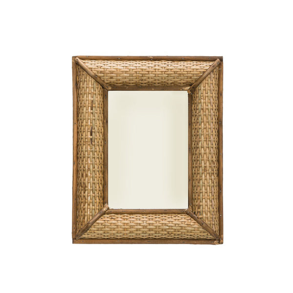 Rattan and Wood Frame