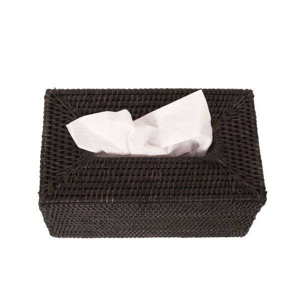 Rectangular Tissue Box in Espresso