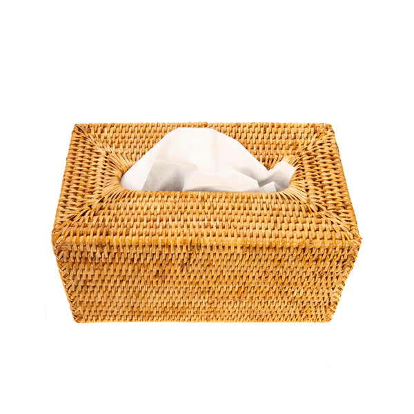 Rectangular Tissue Box in Honey