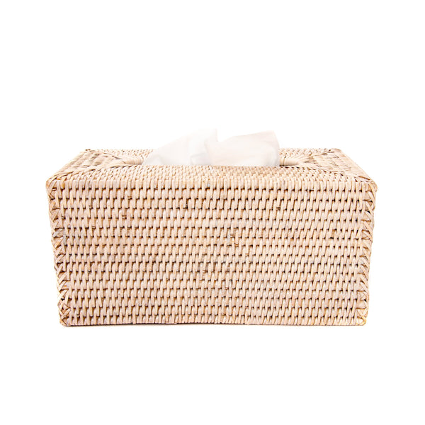 Rectangular Tissue Box in White