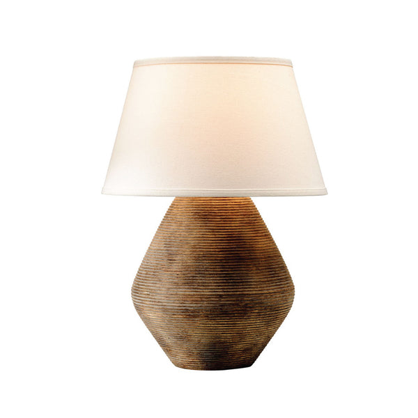Ribbed Stone Table Lamp