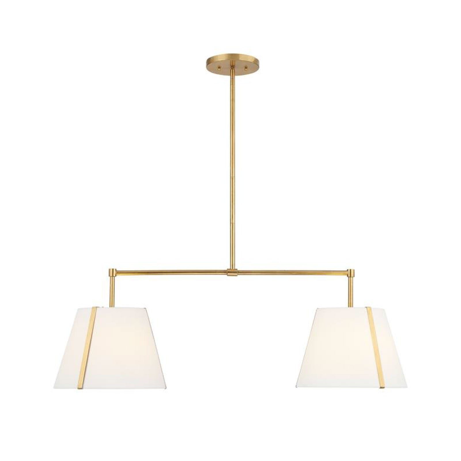 Roosevelt Linear Chandelier in Antique Gold