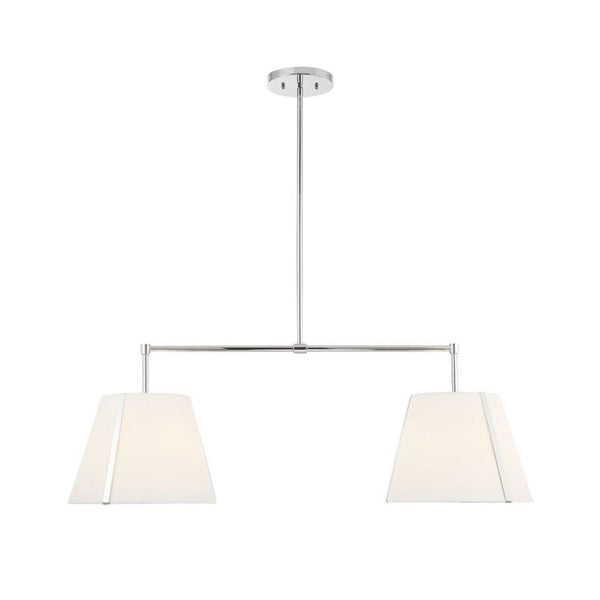 Roosevelt Linear Chandelier in Polished Nickel