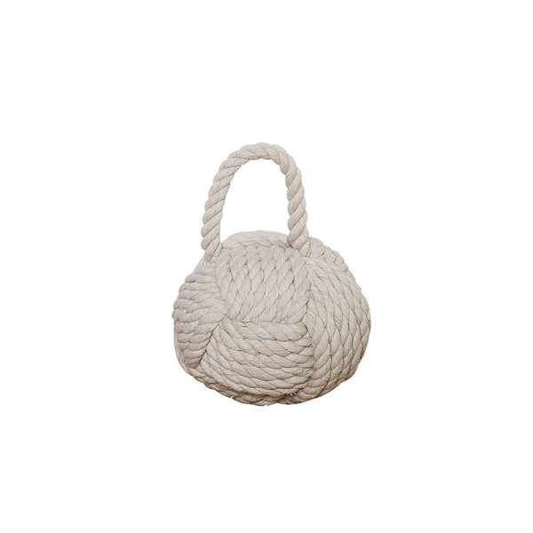 Rope Knot Doorstop in Natural