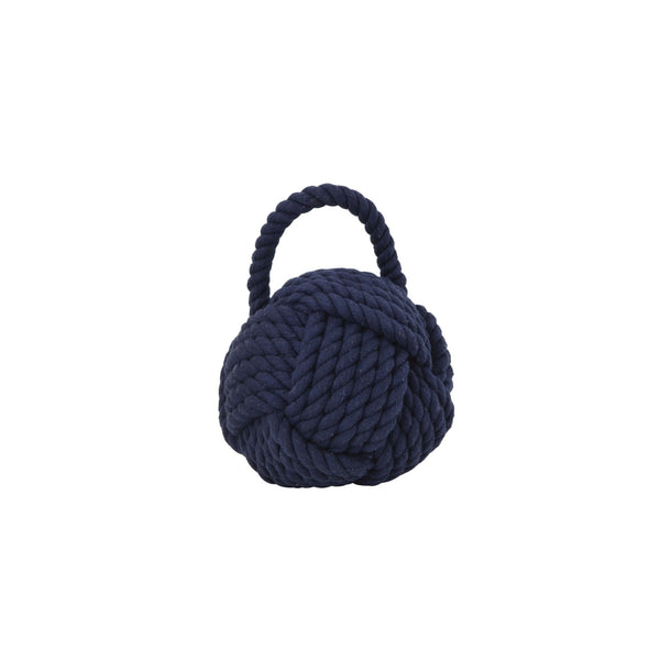 Rope Knot Doorstop in Navy