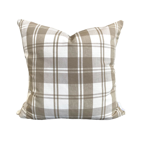 Rory Pillow in Taupe Check