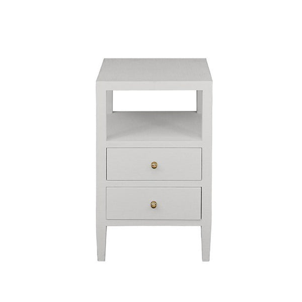 Marvin Side Table in White Linen