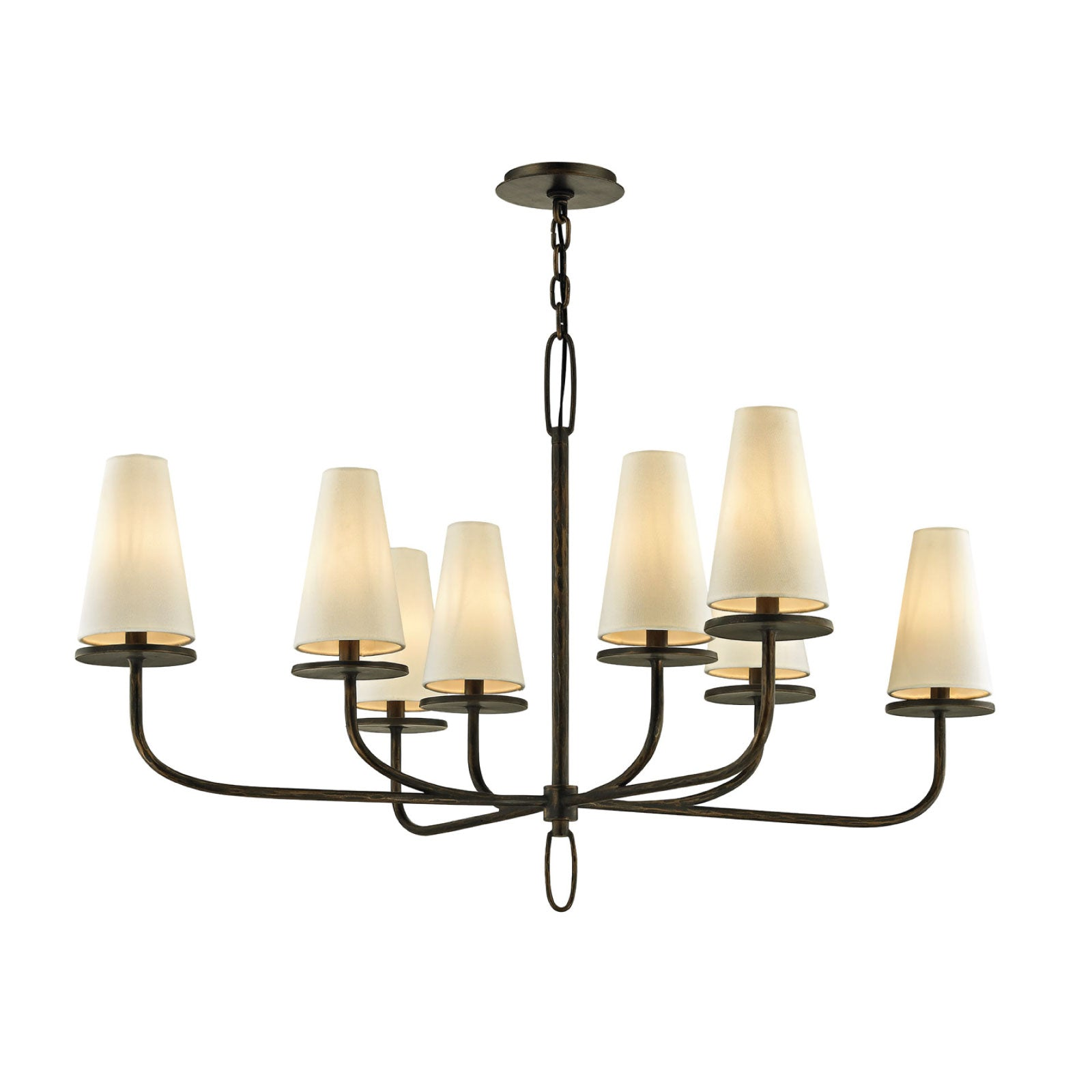 Rosecliff Chandelier in Bronze - Large